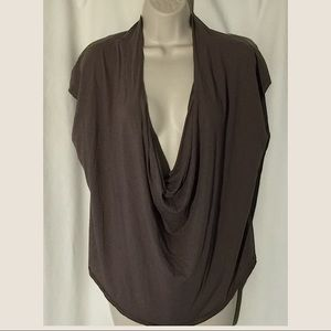 Free People Brown Top plunging neckline Size Med